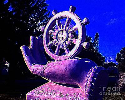 Buddhist Dharma Wheel 2 Art Print by Peter Gumaer Ogden