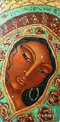 Caligraphy Painting - Quan Yin by Maya Telford
