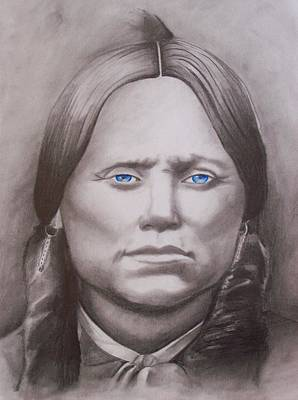 Quanah Parker Drawing - Quanah Parker by Amber Stanford