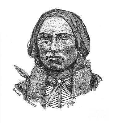 Drawing - Quanah Parker by Clayton Cannaday