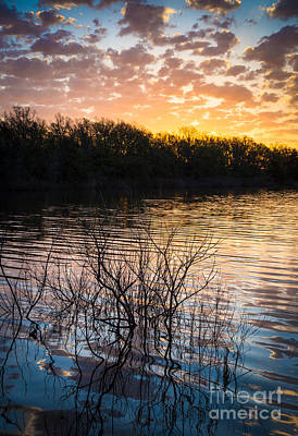 Wichita Photograph - Quanah Parker Lake Sunrise by Inge Johnsson