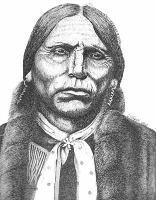 Drawing - Quanah Parker by Lawrence Tripoli