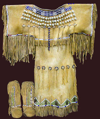 Arapaho Mixed Media - Quanah Parker's Daughter's Dress - Comanche by Native Arts Trading