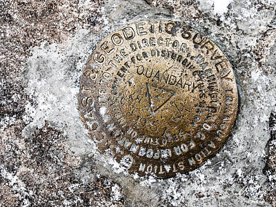 Photograph - Quandary Survey Marker by Aaron Spong
