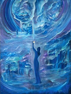 Other Worldly Painting - Quantum Awakening by Lily Nava