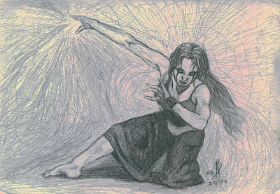 Metaphysical Drawing - Quantum Dancing by Kd Neeley