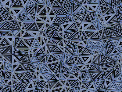 Digital Art - Quantum Geometry Gray by Judi Suni Hall