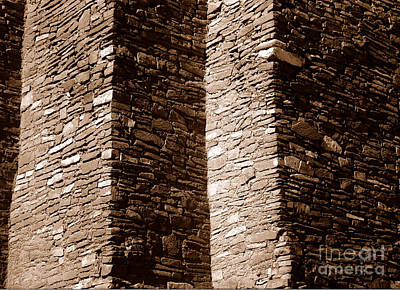 Photograph - Quarai - Wall by Steven Ralser
