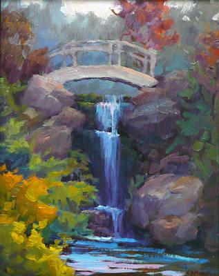 Quarry Hills Waterfall Art Print by Carol Smith Myer