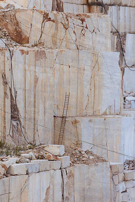 Photograph - Quarry Ladder by Paul Indigo