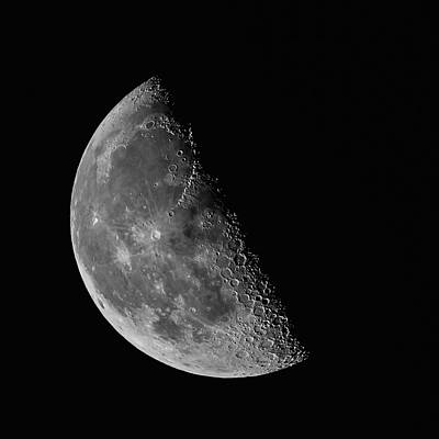 Photograph - Quarter Moon by Erwin Spinner
