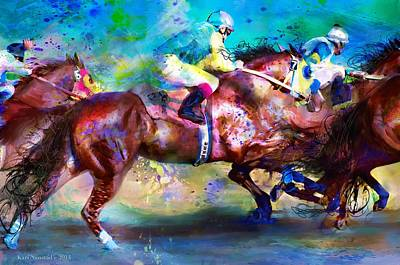Quarter Racing Blues Art Print by Kari Nanstad