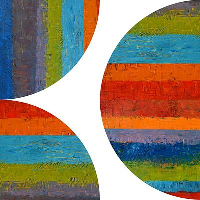 Painting - Quarter Rounds And Half Circle 1.0 by Michelle Calkins