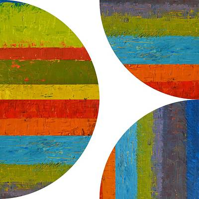 Painting - Quarter Rounds And Half Circle 2.0 by Michelle Calkins