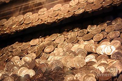 Photograph - Quarters In An Arcade Game 2 by Susan Stevenson