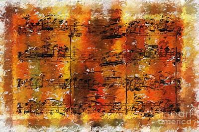 Print featuring the digital art Quartexture 2 by Lon Chaffin