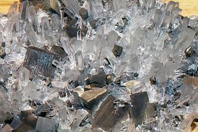 Crystalline Photograph - Quartz And Pyrite by Dirk Wiersma