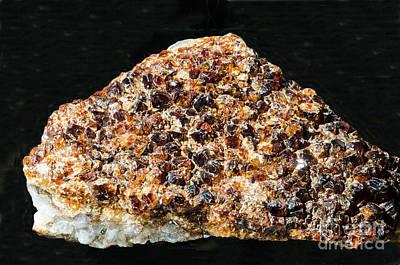 Inorganic Solid Photograph - Quartz Crystals With Hemitite by Millard H. Sharp