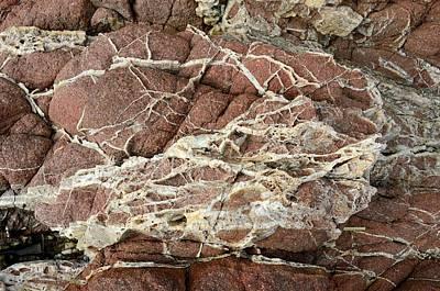 Quartz Veins In Rhyolite Rock Art Print