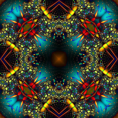 Quasar Kaleidoscope No 1 Art Print