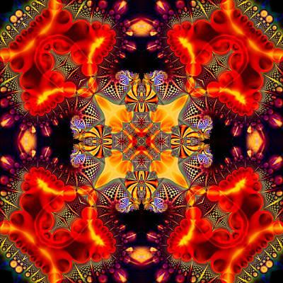 Digital Art - Quasar Kaleidoscope No 3 by Charmaine Zoe