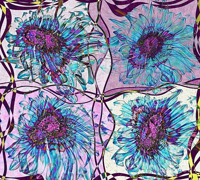 Variation Digital Art - Quatro Floral - 11ac04 by Variance Collections