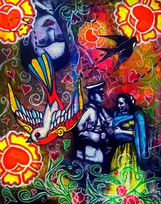 Revolution Mixed Media - Que Tiempos Aquellos - Art By Laura Gomez by Laura  Gomez