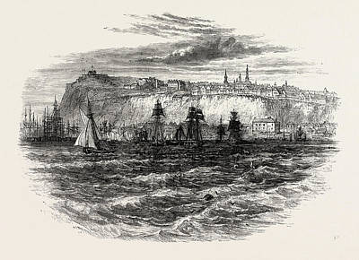 Quebec Drawing - Quebec, Canada, 1870s Engraving by Canadian School