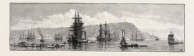 Quebec Drawing - Quebec, Canada, Nineteenth Century Engraving by Canadian School