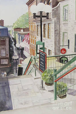 Painting - Quebec City by Carol Flagg
