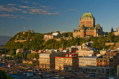 Photograph - Chateau Frontenac In Quebec City At Sunset by Ginger Wakem