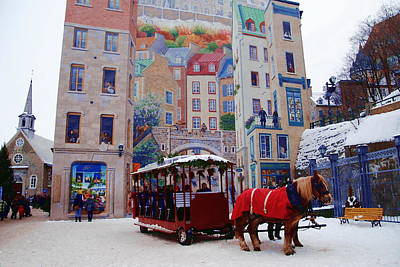 Photograph - Quebec City Holiday by Jacqueline M Lewis