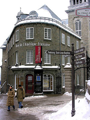 Quebec In The Winter Art Print by Anne Gordon