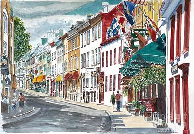 Awnings Painting - Quebec Old City Canada by Anthony Butera