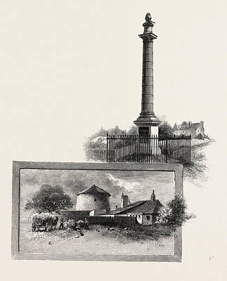 Quebec Drawing - Quebec, Wolfes Monument Top Martello Tower by Canadian School