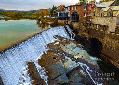 Photograph - Quechee Dam by Sharon Seaward
