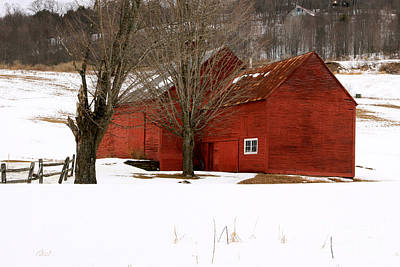 Photograph - Quechee Red Barn by Butch Lombardi
