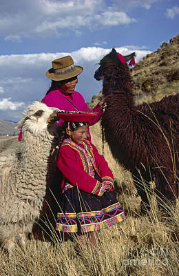 Photograph - Quechua Grandmother And Granddaughter - Peru by Craig Lovell