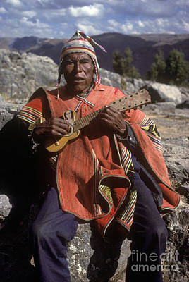 Photograph - Quechua Man With Guitar - Peru by Craig Lovell