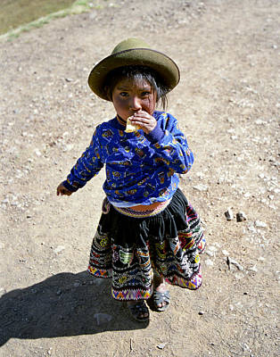 Photograph - Quechuan Girl in Pisac Peru  by Jared Bendis