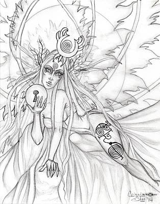 Queen Aene Art Print by Coriander  Shea