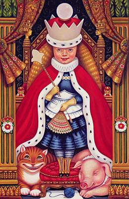 Cheshire Wall Art - Photograph - Queen Alice, 2008 Oil And Tempera On Panel by Frances Broomfield