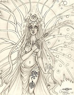 Queen Altheia Art Print by Coriander  Shea