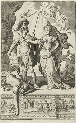 Vanquished Drawing - Queen And A Roman Soldier, Jan Luyken, Jan Claesz Ten Hoorn by Jan Luyken And Jan Claesz Ten Hoorn
