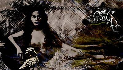 Digital Art - Queen And Courtiers by Maria Jesus Hernandez