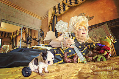 Canine Earrings Photograph - Queen And The Frog by Danilo Piccioni