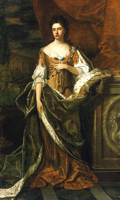 Kneller Painting - Queen Anne Of England (1665-1714) by Granger
