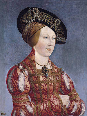 Bohemia Painting - Queen Anne Of Hungary And Bohemia by Hans Maler