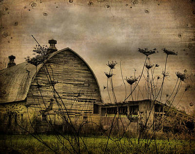Abandoned Digital Art - Queen Anne's View Barn Collage by Gothicrow Images
