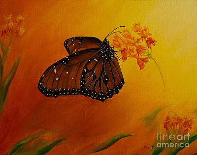 Queen Butterfly  Art Print by Zina Stromberg